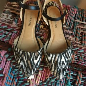 FREE Woven Neutral Pointed Flats